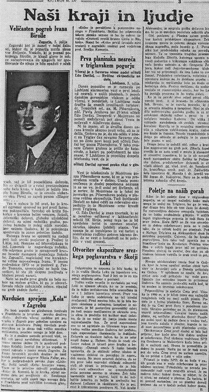 Jutro 6.7.1927 padec-friko